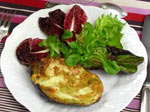 Gratin d'avocat au fromage de brebis