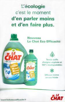 Publicité pour une lessive Le Chat