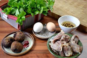 Salade de pourpier et betterave aux gésiers de canard confits
