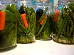 Pickles haricots et carottes