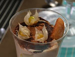 Verrines aux poires et à la crème de marrons