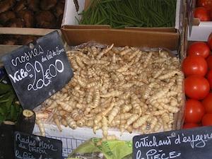 Crosnes sur le marché