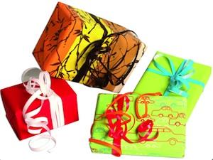Emballage cadeaux en papier recyclé