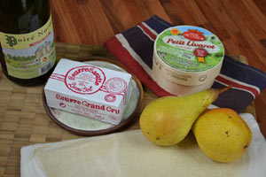 Surprise poires livarot : ingrédients