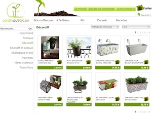 Jardin au Balcon, la boutique en ligne des jardiniers citadins