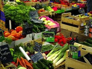 Légumes sur le marché