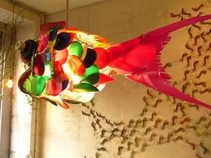 Objets de décoration à base de matériaux de récupération