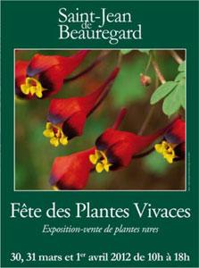 Saint Jean de Beauregard - Fête des plantes vivaces de printemps 2012 - Affiche