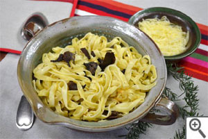 Tagliatelles aux champignons et au safran : prêt à déguster !