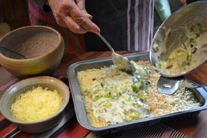 préparation du gratin