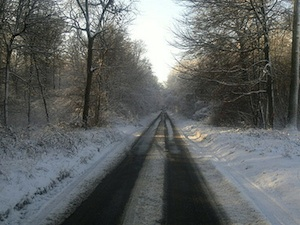 Route déneigée