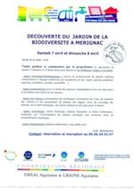 Agir pour la biodiversité au jardin - Mérignac - Avril 2012