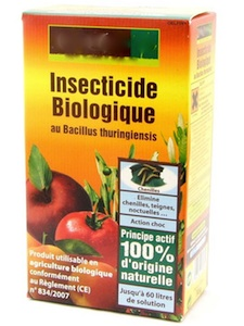 Insecticide biologique - Bacillus thuringiensis