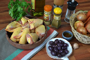 Fricassée de poulet aux carottes et aux olives