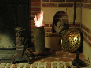 Dans la cheminée