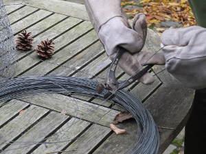 Découpe du fil de fer