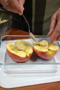 Garniture des pommes