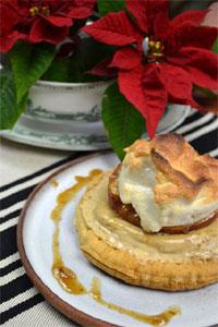 Pommes au four et crème de marrons : service