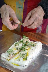 Préparation du filet de poisson