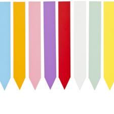Etiquettes colorées en plastique