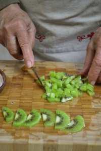 Découper le kiwi