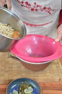 Egoutter les haricots après cuisson