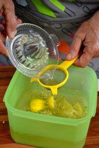 Ajout d'un jus de citron bio