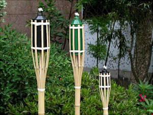 Torches en bambou