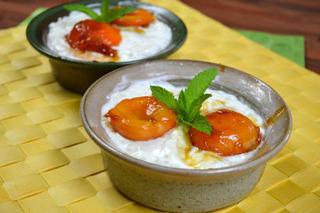 Coupes de riz aux abricots