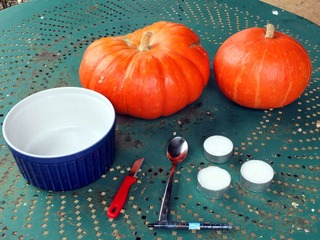 Matériel pour l'atelier citrouille d'Halloween