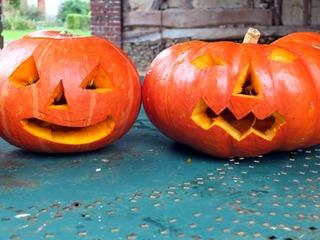 Citrouille et potimarron d'Halloween