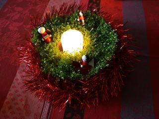 Centre de table de Noël végétalisé
