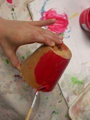 Peinture du pot en terre cuite