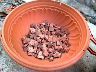 Drainage en fond de pot - Gravier