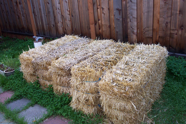 Build with straw bales