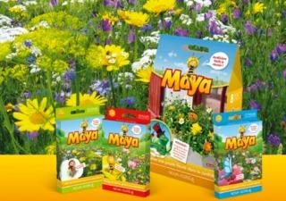 Gamme de graines Maya l'abeille - Prairie fleurie et jardinière / Nova-Flore