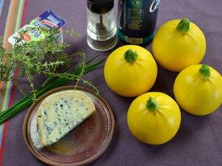 Courgettes farcies au bleu : ingrédients / I.G.