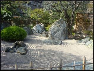 Jardin de gravier zen