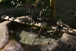 Pierre à eau (Tsukubai) - Jardin japonais