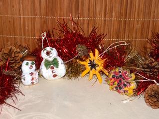 Décorations de Noël en pâte à sel