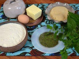 Sablés aux orties : ingrédients / I.G.