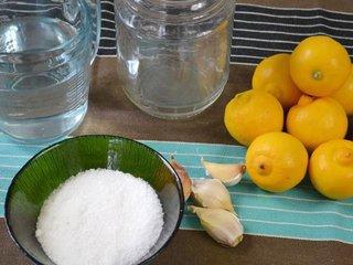 Ingrédients pour citrons confits / I.G.
