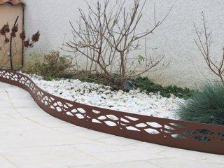 Bordure de jardin couleur acier vieilli (réf. 1972)