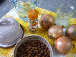 Ingrédients pour compotée d'oignons / I.G.