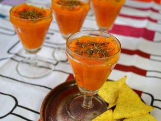 Crème de carottes en verrines / I.G.