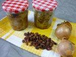 Compotée d'oignons aux raisins secs