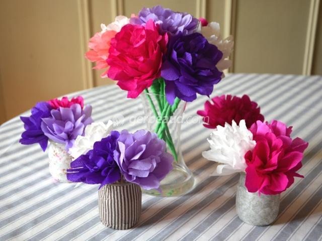 Activite Enfants Fabriquer Des Fleurs En Papier Pour La Fete Des Meres