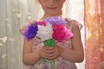 Bouquet de fleurs en papier - Bonne fête maman !