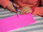 Découpage d'une bande de papier