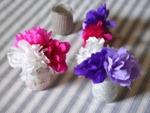 Mini-bouquet de fleurs en papier